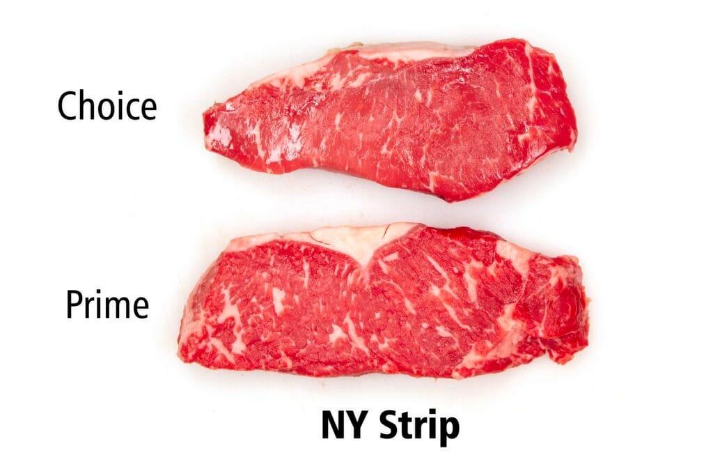 Steak Comparison Choice vs Prime