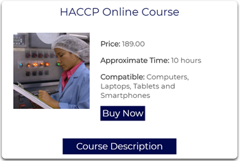 HACCP Online Course Image